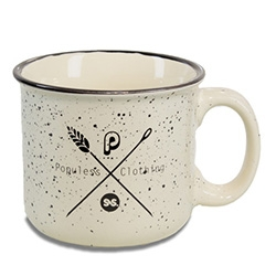 Populess Scout Mug - it LOOKS like an enamelware camp mug, but it's really ceramic! Far heavier than expected when you pick it up.