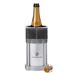 Porsche bottle cooler with an original ribbed cylinder from the early air-cooled 911 models (G models)