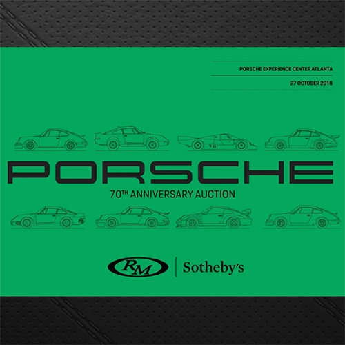 Porsche 70th Anniversary Auction from RM and Sotheby's. Beautiful catalog including everything from manuals and posters to steering wheels and desks... to of course cars.