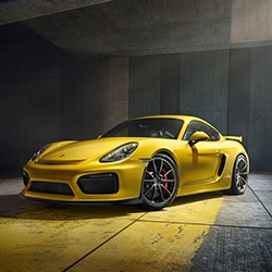 The new 2015 Porsche Cayman GT4 debuts with an updated look and a lot more performance. The 385 hp mid engined machine will only be offered with a manual gearbox.
