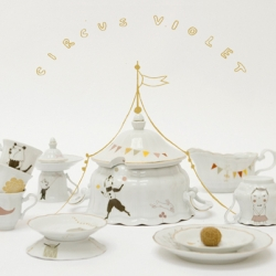 """Circus Violet"" is the really cute new collection of porcelain, prints and stamps, from Studio Violet (Camilla and Elisabeth) from Sweden."