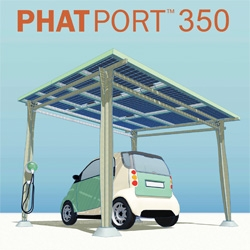 Phatport is a unique product of Phat Energy that utilize solar panels as the main feature.  Phatport has several form, as a carport,  a patio, or another forms.