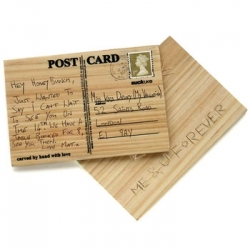 Carve Your Own Postcard.....st carve or scratch your own message with a key or knife.