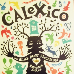 sweet poster i got from the calexico & black heart procession show tonight at the fillmore