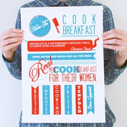 Real Men Cook Breakfast For Their Women ~ Some sound advice and a fun poster from the How To Project.