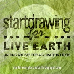 startdrawing for LIVE EARTH is an initiative that unites artists from all over the world to combat our climate crisis! In conjunction with the launch of LIVE EARTH, We are aiming to set a world record for collecting the most number of GREEN drawings by 7/7/07!