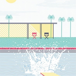 Arno Dufour - Splash and stripes. An homage to David Hockney. Limited edition of 30ex S/N