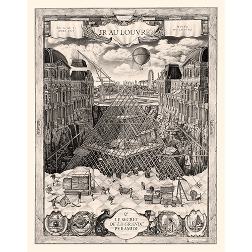 """Le Secret de la Grande Pyramide"" Prints by Violaine & Jeremy for JR at the Louvre"