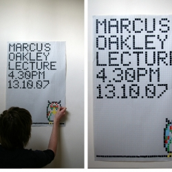 A tangible interactive poster which questions the popular misconception that interactive design has to be on a screen.