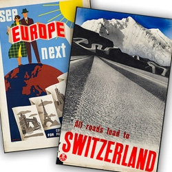 The Boston Public Library's Print Department has a stunning collection of vintage travel posters ~ a time when their designs were filled with wonder and possibility. Take a peek at my favorites!
