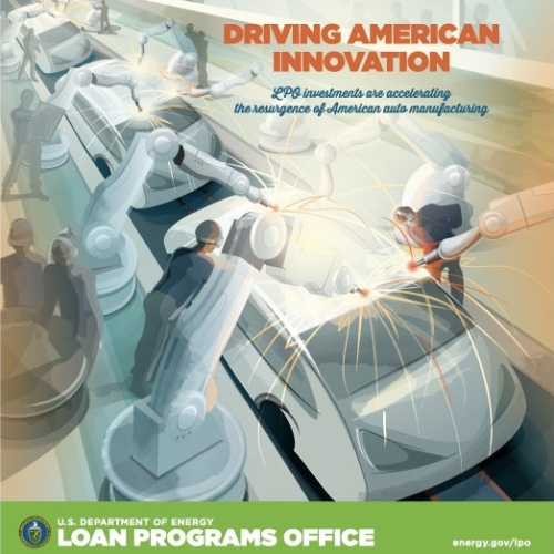 Inspired by iconic New Deal-era posters, the Energy Department's Loan Programs Office created its own poster series to highlight projects it helped finance through the Section 1705, Title XVII and ATVM programs.