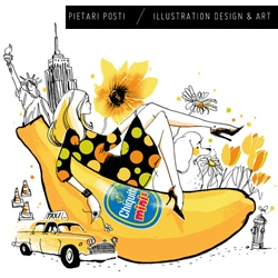 Take a peek at the fabulous work of international illustration and design artist Pietari Posti.