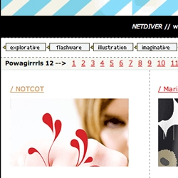 NetDiver featured NOTCOT.org! And added us to their list of Powagirrrls!