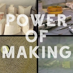 "Discover the V&A's ""Power of Making"" with an in depth look at the working lives of shoe designer Marloes ten Bhömer, crochetdermist Shauna Richardson, artist, curator and glass designer Matt Durran and flute-maker Stephen Wessel."