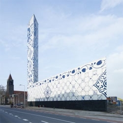 Even power plants are stylish in The Netherlands. The tiles used on this building have energy related designs, aimed to educate the citizens on power consumption. Designed by Cie.