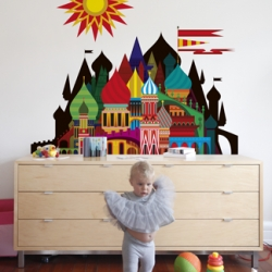 Imaginary Castle: new wall decal from Patrick Hruby and Blik.