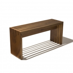 PraDois - This bench's name is a neologism that refers to the portuguese words Para Dois, or For Two. Notice the joinery on the sides and below the seat. The production is limited to 11 pieces only.