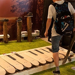 Skateboard Floor Piano for Element Skateboards at Faces&Laces exhibition