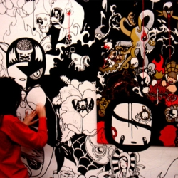 "fromthe ""Street Art Sweet Art""collective in milan.  check it out before april 7th at Pac (Padiglione arte contemporanea)."