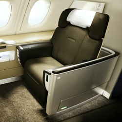 Here's a look at the new first-class cabin of Lufthansa's new A380 planes by London industrial designer Priestmangoode.