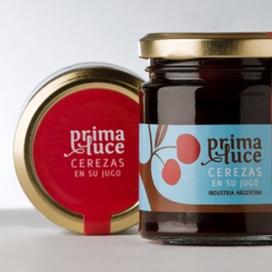 Campoy Príncipi Domenech's great packaging for prima luce's cherry jam.