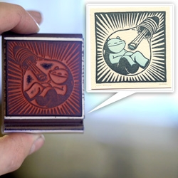 Rubber Stamp and Letterpress Print by Jay Ryan for Tiny Showcase ~ it's like the print that keeps on giving!