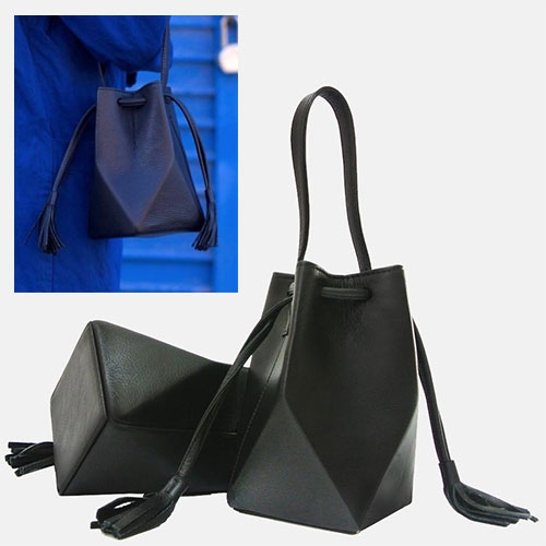 The Common Knowledge Leather Mini Prism Bags