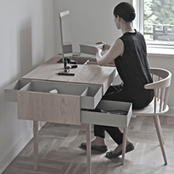 'Private' desk capable of taking of both mind and body. By Copenhagen based designer Theresa Arns.