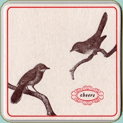 Design*Sponge's Nov Shop is up! Loving these Sesame Letterpress Coasters ~ and so affordable for the holidays at only 13$ for the 8 pack. And they say *CHEERS*