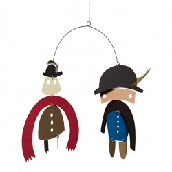 Gentlemen hanging mobile makes me wish I was a kid again. The best part is that they're made from recyclable paper!