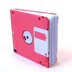 Remember when storage was defined by how many pages of typed text it could hold? Floppy Disk Notepad