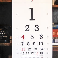 Check out the elegant Seeing-Eye Calendars, designed by NY-based architect Stefanie Brechbuehler