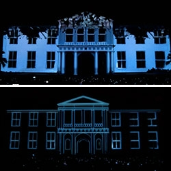 "Fatahillah Museum Video Mapping for 2010 ""Jakarta Creative City"" by Sembilan Matahari, a creative lab from Indonesia."