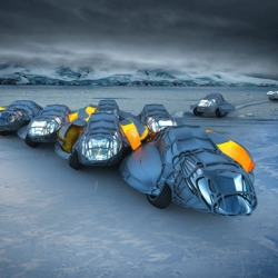 The Antarctic Research Unit Concept endeavors to create a living, working station that challenges traditional ideas of communication, usage and aesthetics in the distinctive landscape. By Henry McKenzie and Artur Kupriichuk.