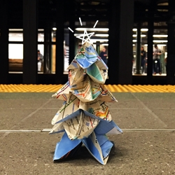 "The ""Architect's Christmas Tree"" version 2.0 - this time with the NYC subway map! The post includes instructions for you to make your own."