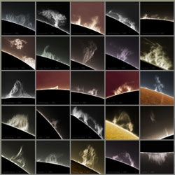 Alan Friedman has captured solar prominences in all shapes and sizes 2005 to 2009.