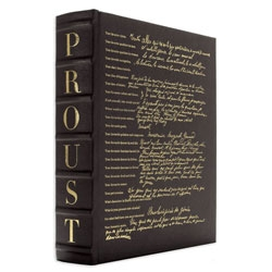 "Assouline's latest edition of Proust Questionnaire is bound in brown leather, with silver foil edges... and even blank questionnaires for you to ""interview"" people with..."