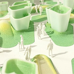 The PS1 competition won by MOS (see #18508) also featured entries by BSC Architects, !ndie Architecture, PARA-project and L.E.FT. Interesting proposals, ranging from full leisure, green carpets to inflatable structures.