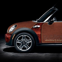A unique solution from the team at Publiceye to design a Mini wrap. Check out their amusing page on how the Mini was conceived.