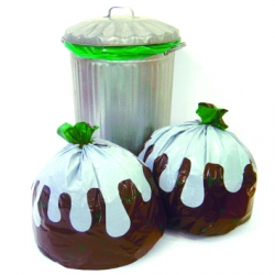These quirky Christmas Pudding bin liners are perfect for the up and coming season.