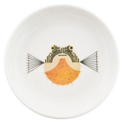 Charley Harper + Todd Oldham + Fish's Eddy = an adorable series of trays, cups, plates, mugs and more covered with adorable Charley Harper Fish graphics.