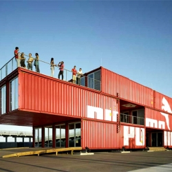 11,000 sq-ft Concept Store/ Event Space by Puma (created by Lot-Ek) - Twenty-four shipping containers are retrofitted and transformed into PUMA CITY, a transportable retail and event building that is traveling around the world