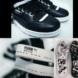 Puma and Boston-based boutique Bodega got together to create a special shoe based on the Mad magazine spy v spy series. Only a limited number of these will be released to the public.