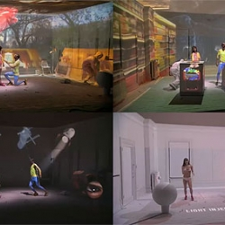 Incredible new ad for Puma's L.I.F.T. shoe - a love story using video projectors. I don't know how they did this.