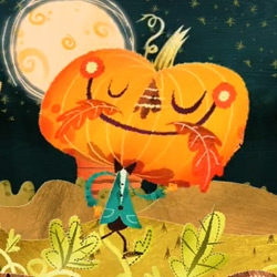 Yay for kids! Adorable animated music video for That's How A Pumpkin Grows by Brian Vogan and super-cute character designs by Alberto Cerriteno.