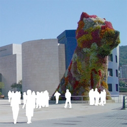 Puppy, the topiary dog by Jeff Koons, in Bilbao since 1997.