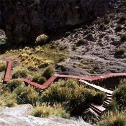 Puritama Hot Springs is a delicate work over a unique landscape in the Atacama Desert.