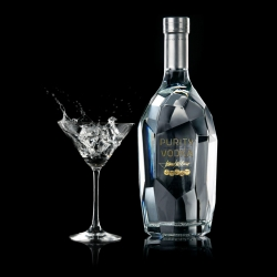 Swedish Purity Vodka is a premium vodka with a wonderful ice block looking bottled designed by Martin Lannering at Happy Forsman & Bodenfors.