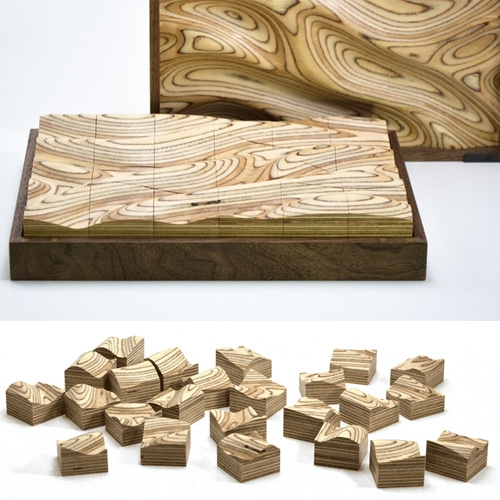 Strata By Valentin Pelayo is a sculptural puzzle designed to engage your sense of touch as well as sight. Form and contour lines flow across wooden blocks, creating a deceptively challenging puzzle.