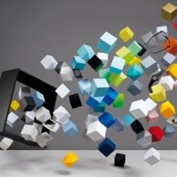 """Beautiful paper-series """"Bloc Parties"""" for Amusement magazine, by Romain Lenancker & Grégoire Vieille."""
